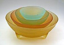 Spike the Four Set by Hudson Beach Glass (Art Glass Bowls)
