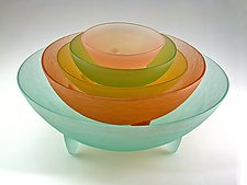 Spike the Five Set by Hudson Beach Glass (Art Glass Bowls)