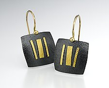 Gateway I by Lisa Ceccorulli (Silver & Gold Earrings)