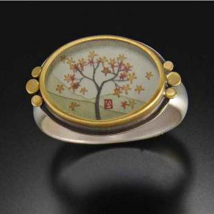 Oval Autumn Maple Ring