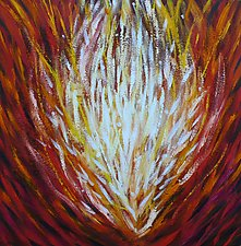 Germination (Red) by Stephen Yates (Acrylic Painting)