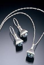 Bell Earrings & Pendant by Kathleen Lynagh (Silver & Pearl Earrings & Pendant)