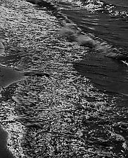 Surf by Allan Baillie (Black & White Photograph)