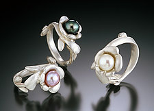 Flower Ring by Kathleen Lynagh (Silver & Pearl Ring)
