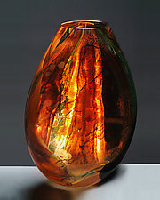 Window Flat by Randi Solin (Art Glass Vessel)