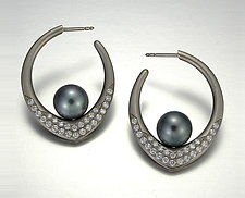 Annalee Earrings by Britt Anderson (Gold, Pearl & Stone Earrings)