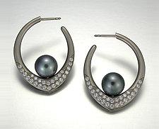Annalee Earrings by Britt Anderson (Gold, Pearl & Stone Earrings)
