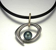 Sophia: Small by Britt Anderson (Gold & Pearl Pendant)