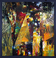 Central Park West Summer Night by Linda Levin (Fiber Wall Hanging)