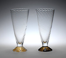 Wine Cups by Tom Stoenner (Art Glass Wine Cups)