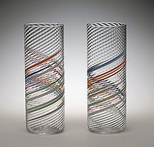 Iced Tea Glasses by Tom Stoenner (Art Glass Tumblers)