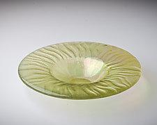 Ikebana Bowl by Carol Green (Art Glass Bowl)