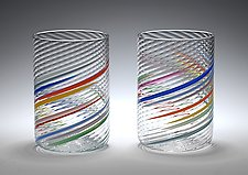 Big Glasses by Tom Stoenner (Art Glass Tumblers)