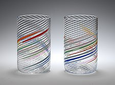 Tumblers by Tom Stoenner (Art Glass Tumblers)