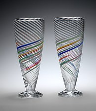 Soda Glasses by Tom Stoenner (Art Glass Cups)