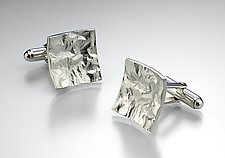 Reticulated Square Cufflinks by Thea Izzi (Silver Cufflinks)