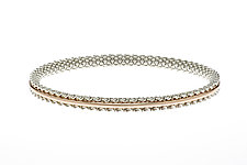 Golden Core Bangle by Mackenzie Law (Gold & Silver Bracelet)
