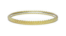 Gold Net Bangle by Mackenzie Law (Gold & Silver Bracelet)