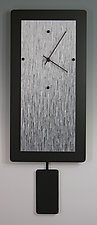 Gray Blend Pendulum Clock by Linda Lamore (Painted Metal Clock)