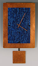 Copper Ocean Pendulum Clock by Linda Lamore (Painted Metal Clock)