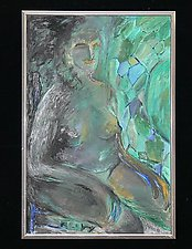 Green Stain Glass by Rene Levy (Oil Painting)