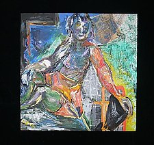Money Maven by Rene Levy (Oil Painting)