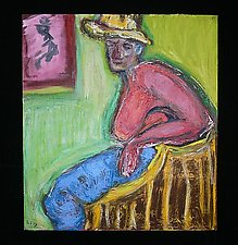 Yellow Hat by Rene Levy (Oil Painting)