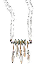 High Wire Pods Necklace by Carolyn Zakarija (Gold, Silver & Stone Necklace)
