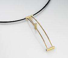 Arc Neckpiece by Junko Nakazawa (Gold & Stone Pendant)