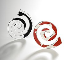 Spiral D.P.W. Brooch by Boris Bally (Metal Brooch)