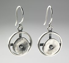 Circles in Motion by Virginia Stevens (Silver Earrings)