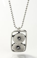 Geometrics in Motion Pendant by Virginia Stevens (Silver Pendant)