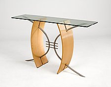 Parabola Hall Table by Nathan Hunter (Wood Table)