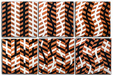 Illusion Tiles Set by Marek Jacisin (Ceramic Wall Sculpture)