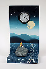 Lake Meditation by Pascale Judet (Painted Clock)
