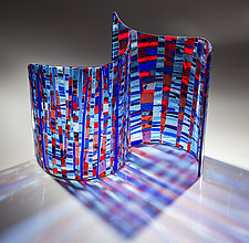 Blue City by Varda Avnisan (Art Glass Sculpture)