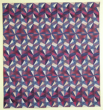 Chiyagami Murasaki #1 by Ellen Oppenheimer (Art Quilt)