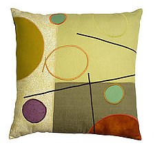 Burnt Orange Dot by Susan Hill (Pillow)