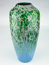 Afton Mountain Summer by Daniel Scogna (Art Glass Vase)