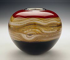 Ruby Sphere by Danielle Blade and Stephen Gartner (Art Glass Vase)