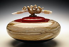 Ruby Covered Bowl by Danielle Blade and Stephen Gartner (Art Glass Vessel)