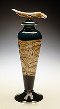 Sage Covered Vessel by Danielle Blade and Stephen Gartner (Art Glass Vessel)