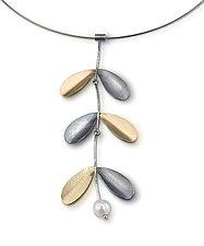 Greek Leaf Pendant by Jamie Cassavoy (Silver & Bi-Metal Pendant)