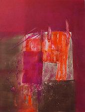 Red Orange by Sandra Humphries (Monotype Print)