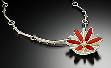 Flower Pendant by Amy Faust (Silver Pendant)
