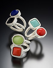 Cabochon Ring by Amy Faust (Silver & Glass Ring)