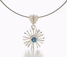 Symmetry Omega by Samantha Freeman (Silver & Stone Pendant)