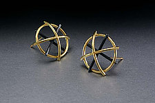 Dome Earrings by Ben Neubauer (Silver & Bimetal Earrings)
