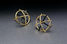 Dome Earrings by Ben Neubauer (Silver & Bimetal Earrings)