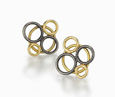 Bubble Earrings by Ben Neubauer (Silver & Gold Earrings)